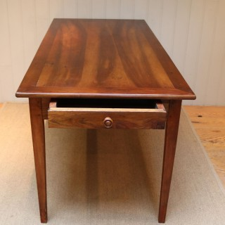 Small Proportioned French Cherry Wood Farmhouse Table