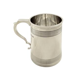 Antique Sterling Silver Pint Tankard / Mug 1917