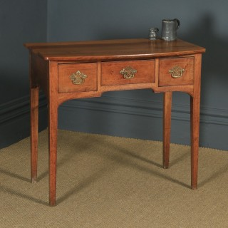 Antique English Georgian Fruitwood Inlaid Occasional Side Hall Lowboy Table (Circa 1780)