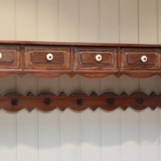 French Pitch Pine Wall Shelves