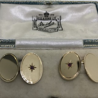 Gold and Ruby Cufflinks