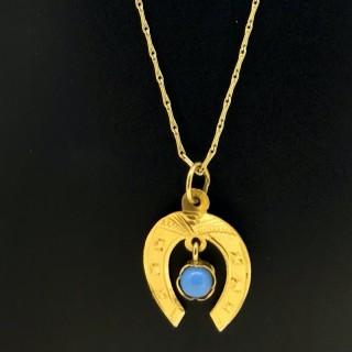 Gold Horseshoe pendant