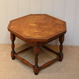 Small Oak Parquetry Top Table