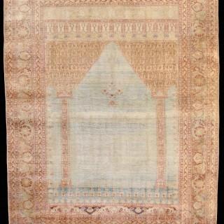 Persian Tabriz Silk Prayer Rug