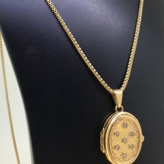 18ct Locket and Chain