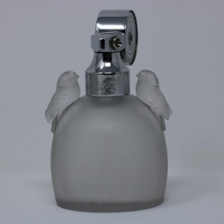 Rene Lalique Frosted Glass Perruches Perfume Bottle