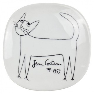 Jean Cocteau Porcelain Dish for Limoges, 1959
