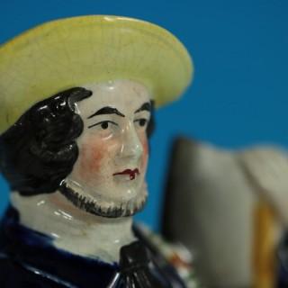 Staffordshire Pottery Figure of a Woodchopper Lumberjack