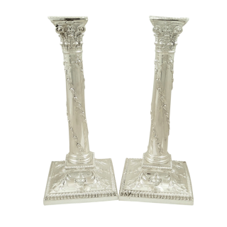 Pair of Antique Victorian Sterling Silver 10