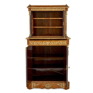 Napoleon III period gilt bronze and porcelain mounted cabinet by Louis Grade