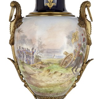 Sèvres style porcelain and gilt bronze vase depicting Napoleon