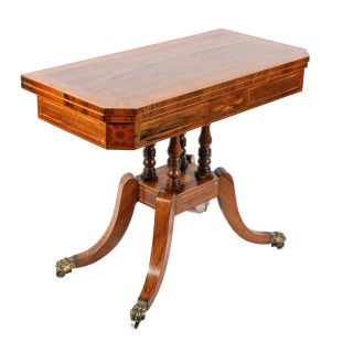 Georgian Rosewood & Satinwood Card Table