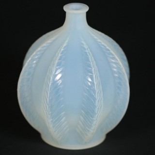 Rene Lalique Opalescent Glass 'Malines' Vase