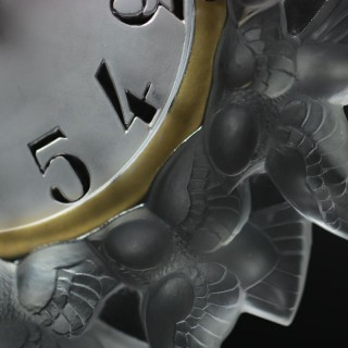 Rene Lalique Frosted Glass Roitelets Clock
