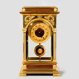 Rectangular four glass ormolu mantel clock, signed Blanpain