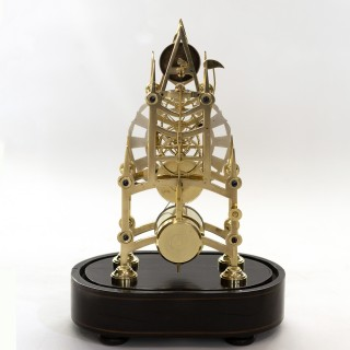 Small English Skeleton Clock