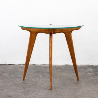 Gio Ponti Maple And Glass Circular Table