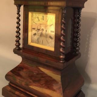 A rare  TABLE CLOCK by Andrew Thompson, Edinburgh