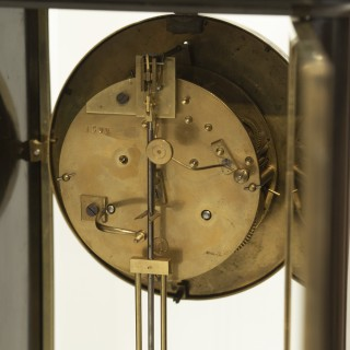 Grand Black marble Striking Mantel clock