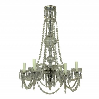 AN ENGLISH CUT GLASS CHANDELIER