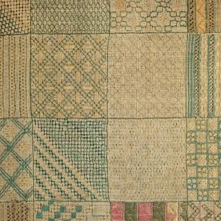 Georgian Embroidered Darning Sampler, circa 1797