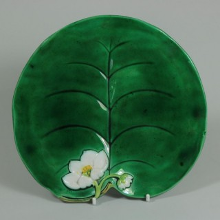 George Jones Majolica Water Lily Plate