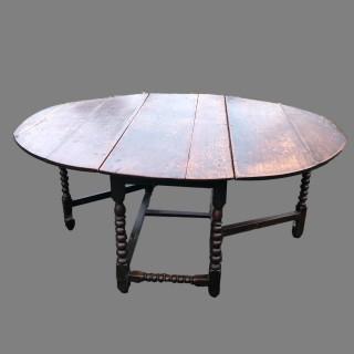 17th Century Oak gate leg table