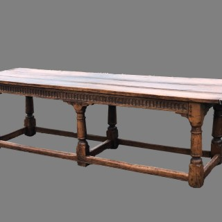 English 17th Century oak refectory table