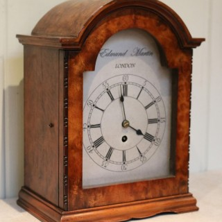 English Burr Walnut Bracket Clock