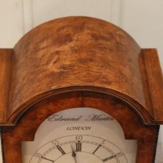 English Burr Walnut Bracket Clock