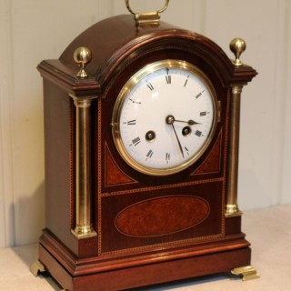 Mahogany and Inlay Bracket Clock