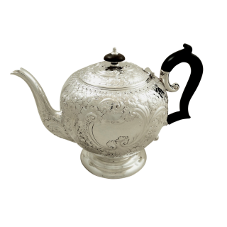 Antique Victorian Sterling Silver Teapot 1896