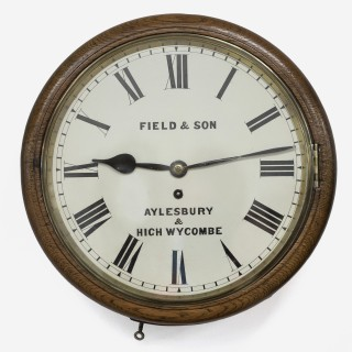 Fusee English Dial clock, Field & Sons
