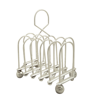 Antique Victorian Silver Plated Expanding Toast Rack c1880