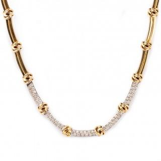 Tiffany diamond and 18 carat  necklace