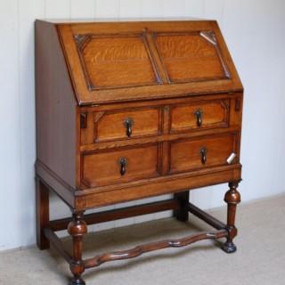 Solid Golden Oak Bureau