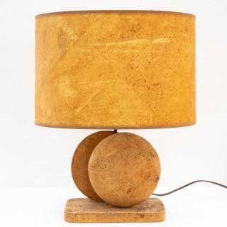 Mid Century Cork Table Lamp