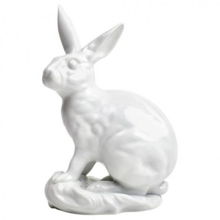 White Porcelain Blanc de Chine Rabbit by Eva Vastagh for Herend