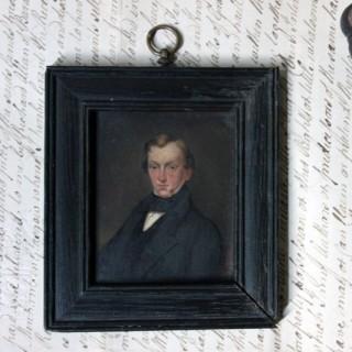 An Early 19thC Portrait Miniature of a Gentleman c.1825