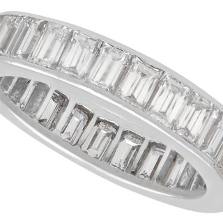 2.60ct Diamond and Platinum Full Eternity Ring - Vintage French Circa 1940