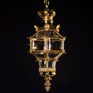 A Small Louis XVI Style Gilt-Bronze Lantern