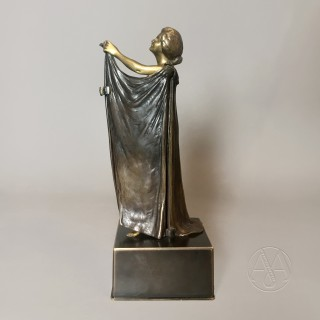 'Open Sesame' - A Finely Cast Gilt and Patinated Bronze Concealed Erotic Figure
