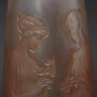 Rene Lalique Ambre Antique Glass Perfume Bottle