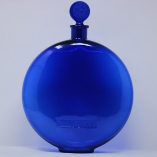 Rene Lalique Glass 'Dans La Nuit' Blue Perfume Bottle