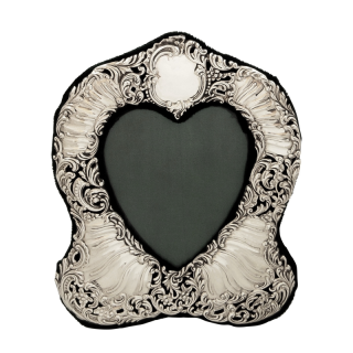 Antique Victorian Sterling Silver Heart Photo Frame 1899