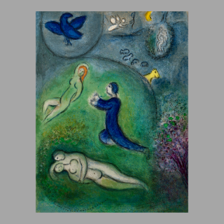 Marc Chagall: 'Daphnis and Chloé'. Original colour lithographs, 1961.