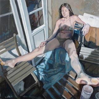 Sunbathing on the Balcony by Valeria Duca