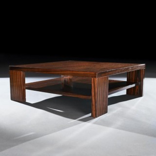 Large 20th Century Macassar Wood Two Tier Coffee Table