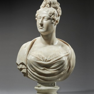 An Important Neoclassical Portrait Bust of Queen Caroline