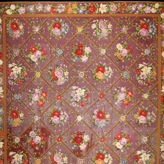 Exquisite English Needlework Carpet